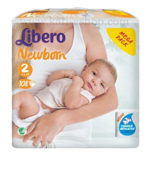 Либеро Бебешки памперси Soft mega mini р-р 2  /3-6кг/ 108 бр.  62601